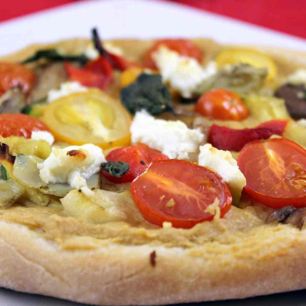 Hummus & Vegetable Pizza
