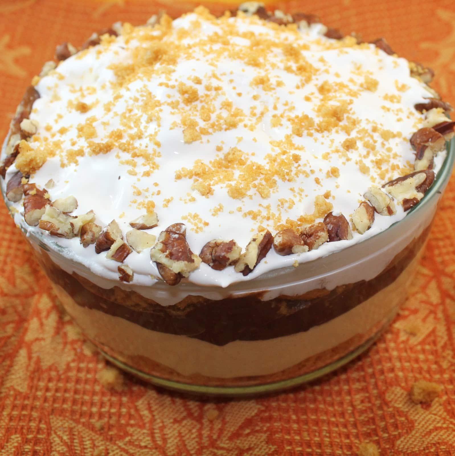 Gingerbread Chocolate Pumpkin Trifle