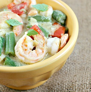Thai Green Curry Shrimp with Coconut Rice