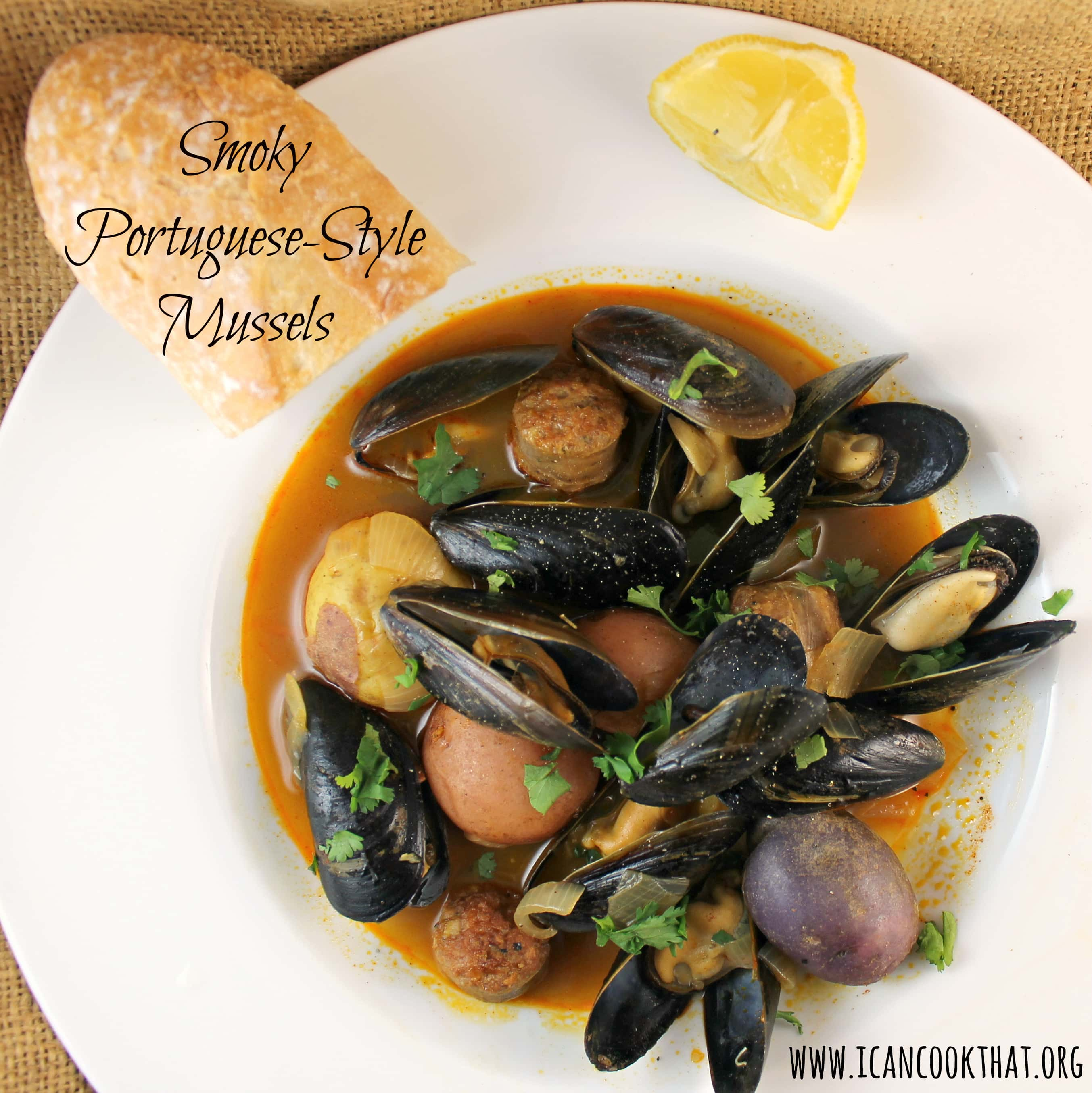 Smoky Portuguese-Style Mussels