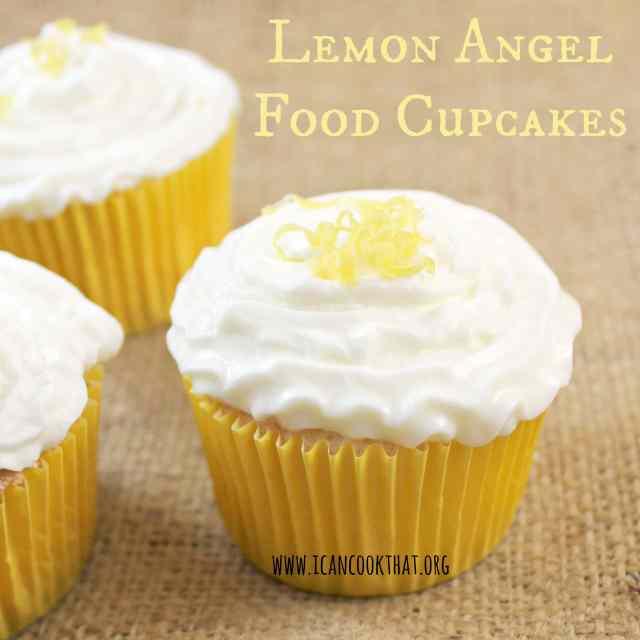 Lemon Angel Food Cupcakes