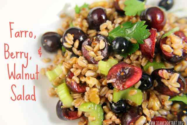 Farro, Berry, and Walnut Salad