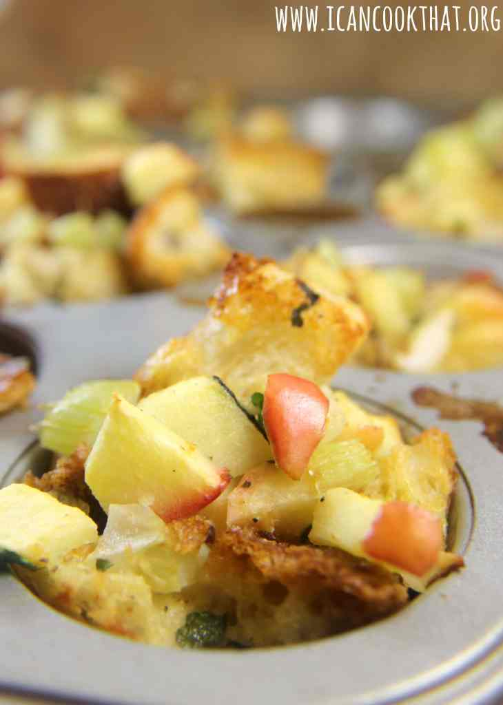 Apple-Sage Stuffing Cups