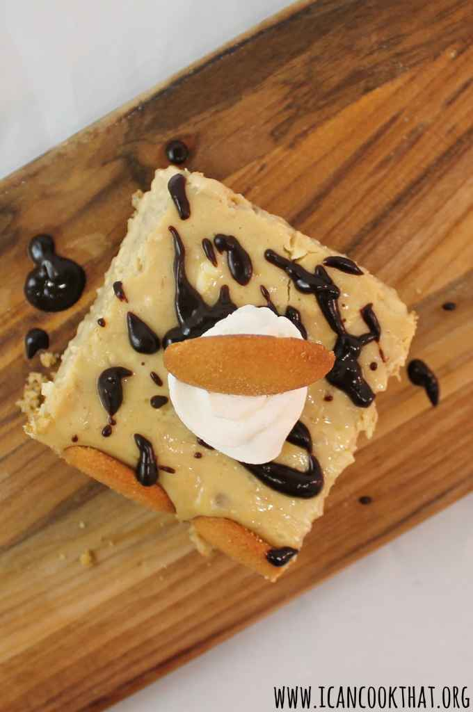 Peanut Butter Banana Pudding Cheesecake Bars