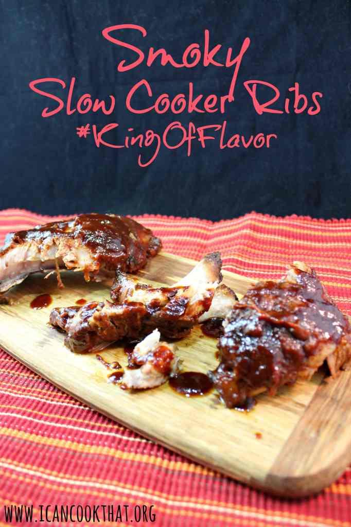 Smoky Slow Cooker Ribs #KingOfFlavor
