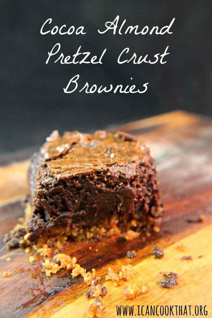 Cocoa Almond Pretzel Crust Brownies