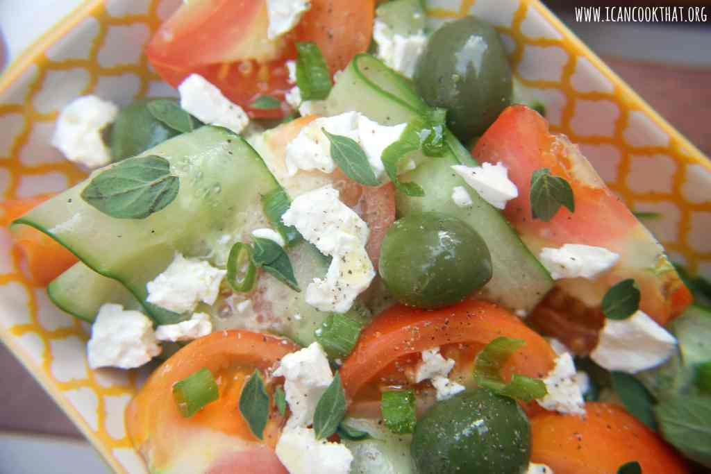Shaved Cucumber Greek Salad