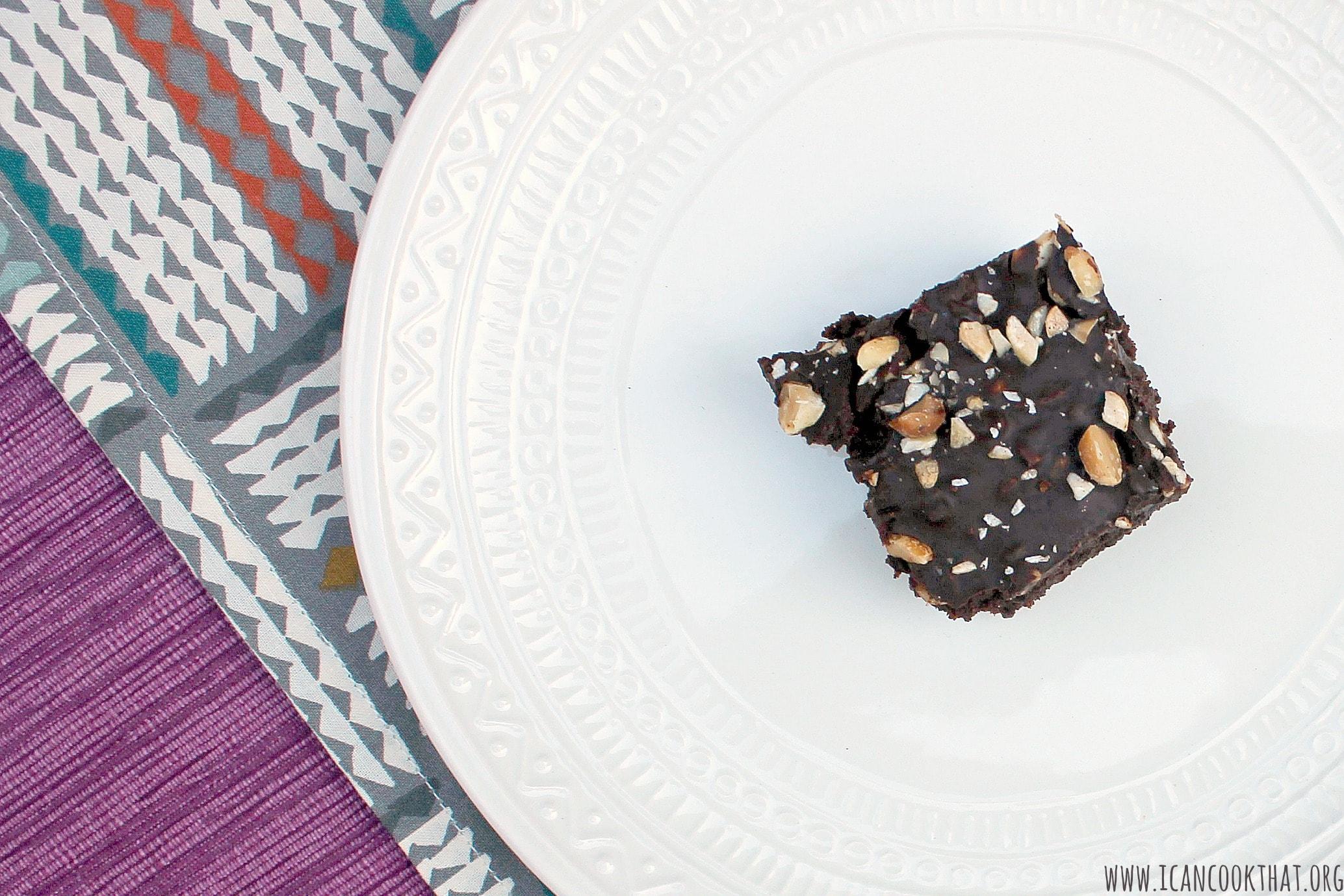 Vegan and Gluten Free Peanut Crunch Brownies