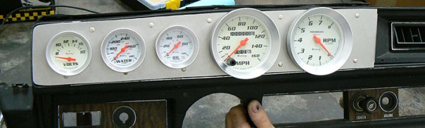 Incorporating gauges into the factory dash