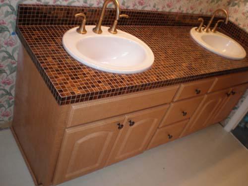 bathroom countertop tile ideas decor