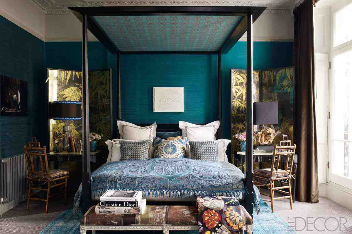If you are looking for inexpensive bedroom decorating ideas, check out these great pieces for under $100. Dark Teal Bedroom Ideas - Decor Ideas