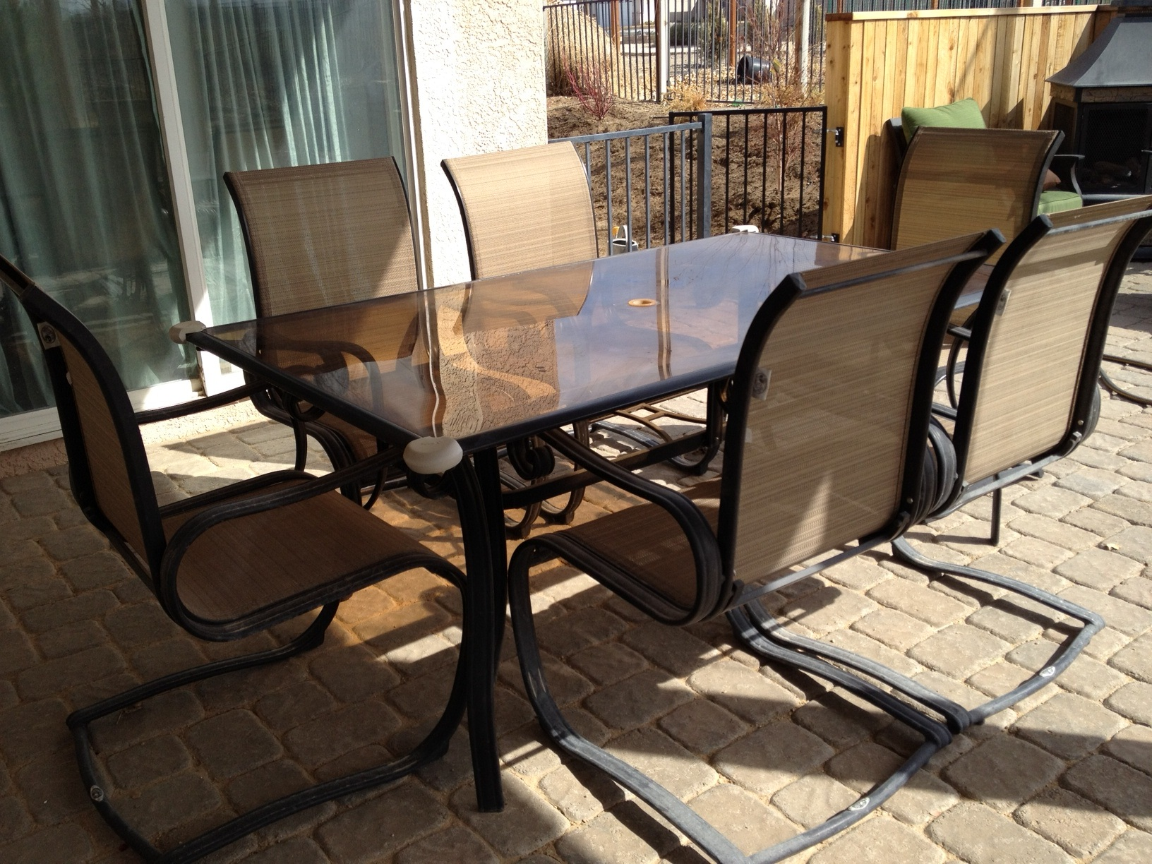 6 chair patio set decor ideas