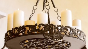 Outdoor Candle Chandeliers Wrought Iron Decor Ideas