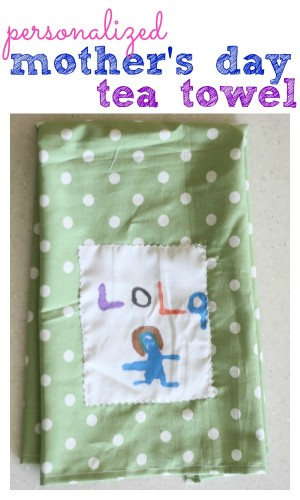 Personalized Mother's Day Tea Towel - I Can Teach My Child!