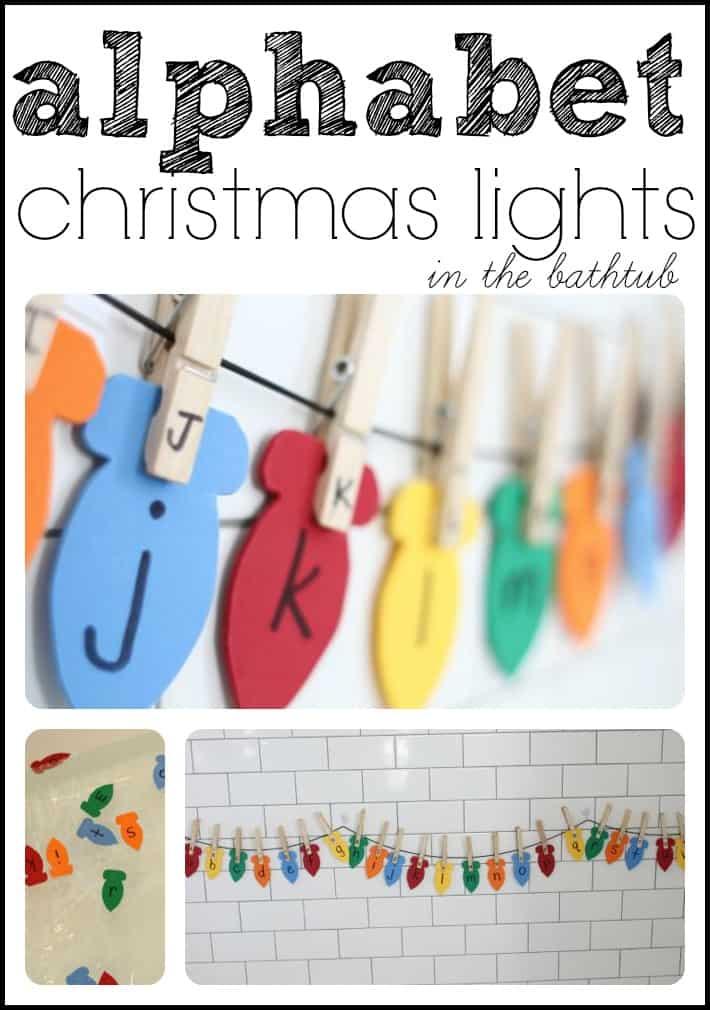 Hanging Alphabet Christmas Lights I Can Teach My Child