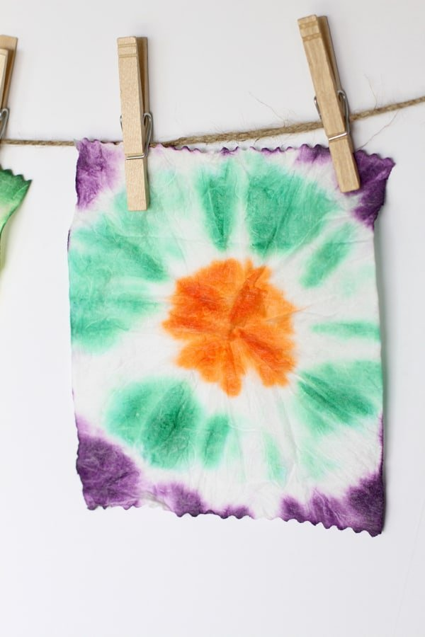 Easy Tie Dye Art With Baby Wipes I Can Teach My Child