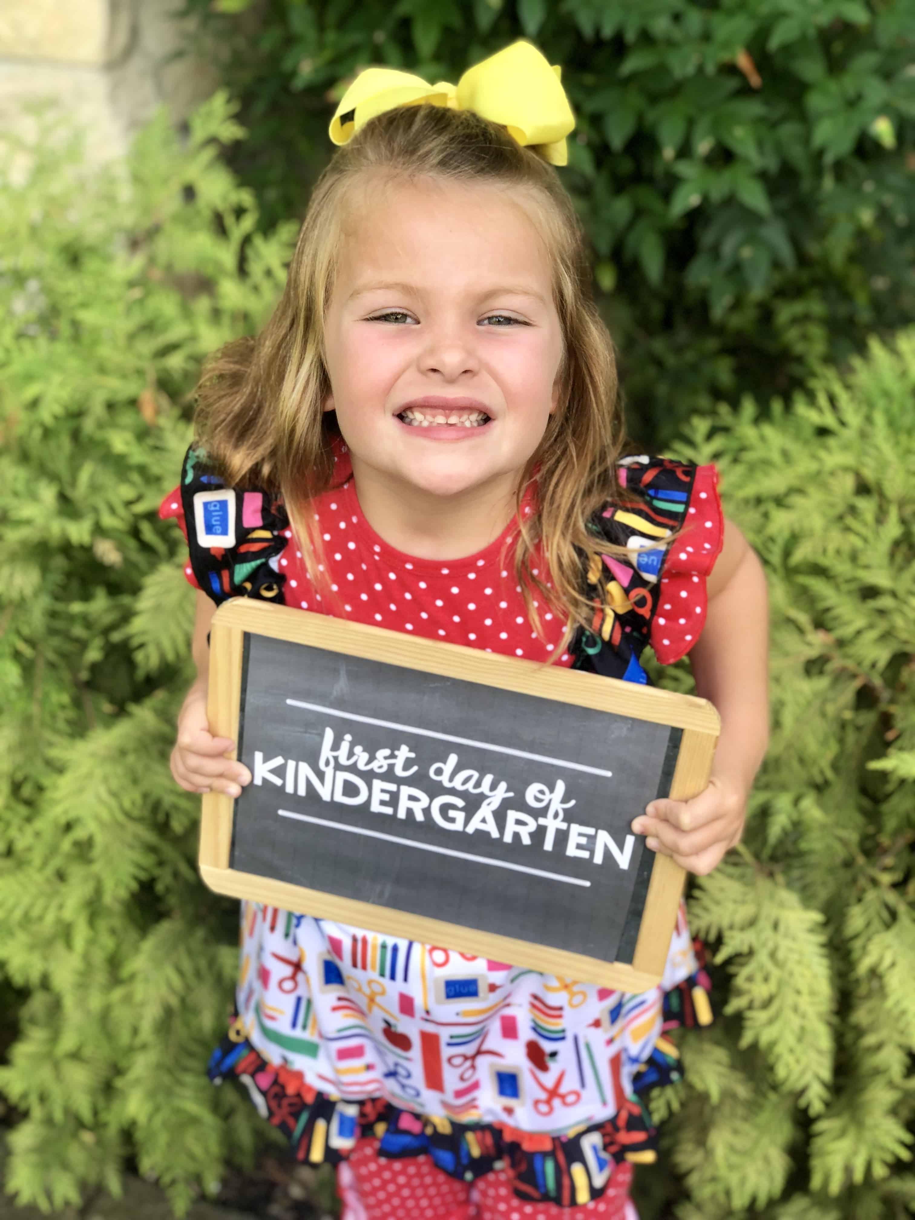 Chalkboard First Day Of School Signs Preschool Through