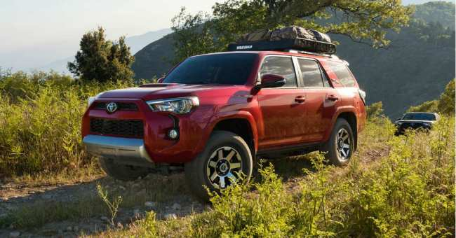 Toyota 4Runner on the Trail. Shine some light out there.