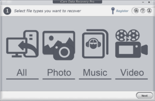 select recovery option
