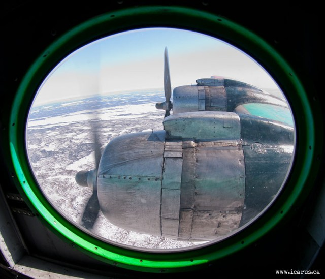 Out the window of a DC-4