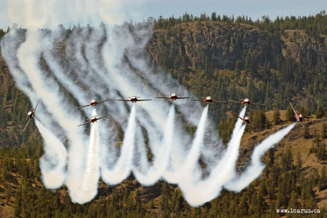 Snowbirds over Lake Okanagan
