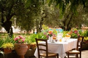 Jardín privado I Casalini agroturismo en Toscana