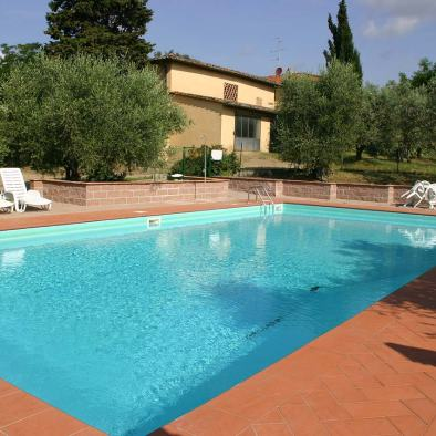 Swimming pool I Casalini farmhouse in Tuscany