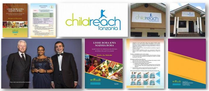 Signage, Childreach, Bill Clinton, awards, charity, Tanzania, poster