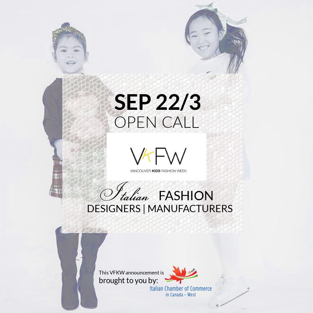OPEN CALL VANCOUVER KIDS FASHION WEEK