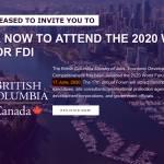 WORLD FORUM FOR FDI 2020 VANCOUVER BC