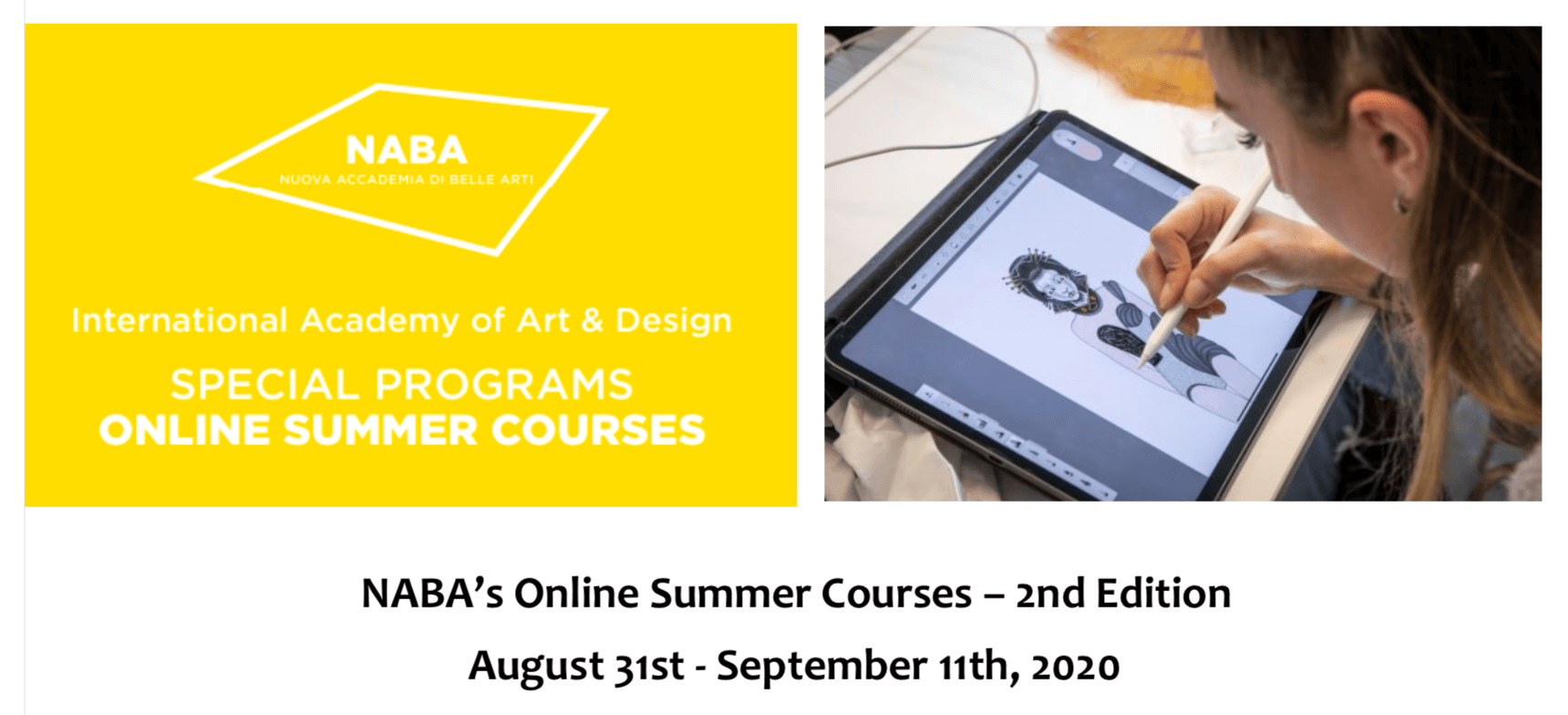 NABA's Online Summer Courses 2