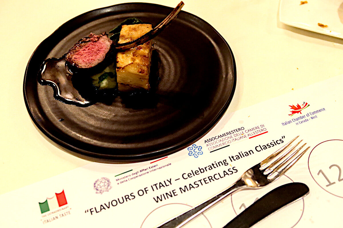 Wines Of Italy Masterclass Wine Pairing Meal