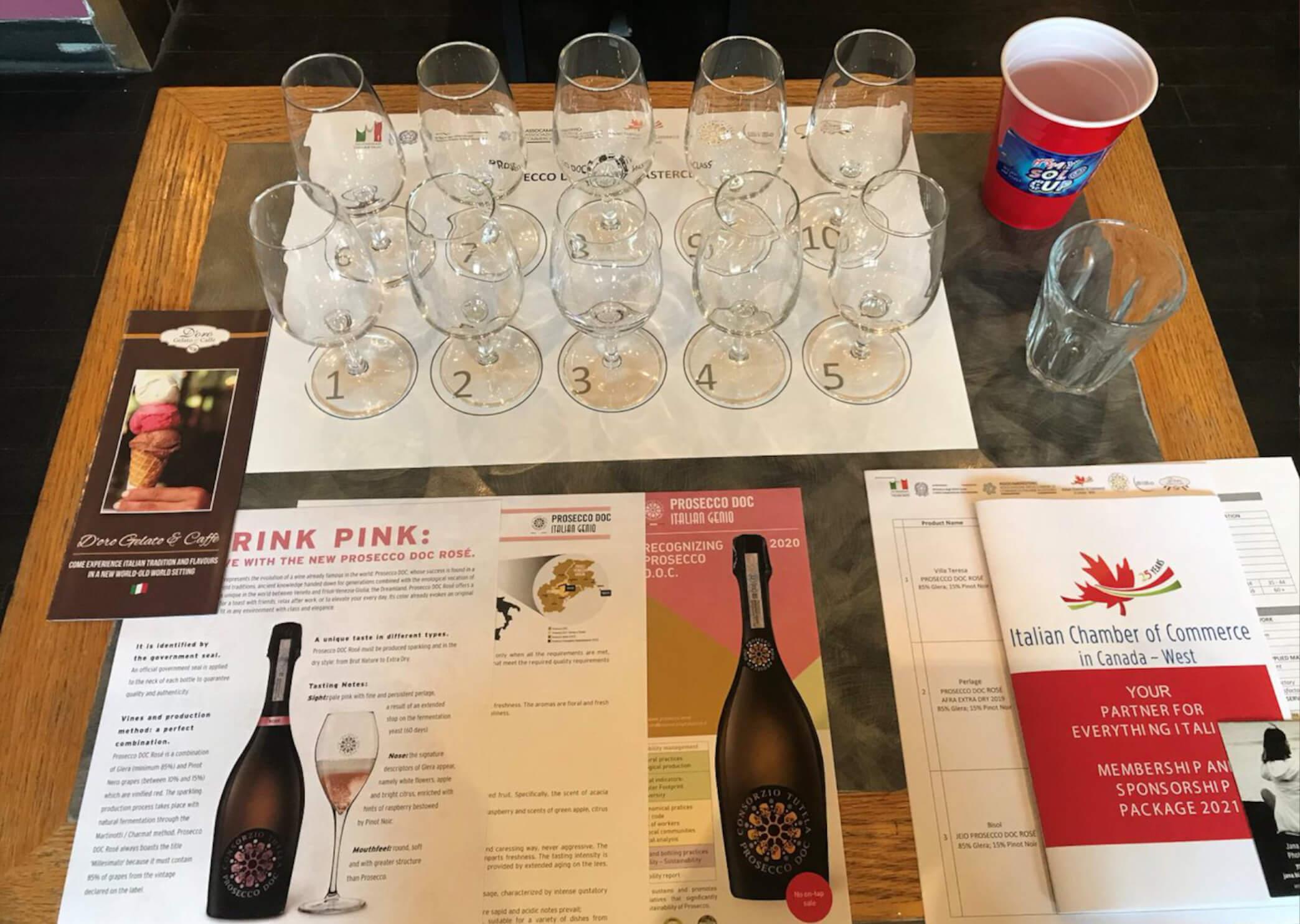 Prosecco DOC Rose Masterclass Vancouver Canada True Italian Taste Italian Chamber Of Commerce