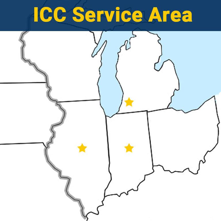 ICC Cold Storage Service Maintenance Area Map