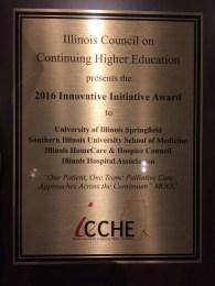 Innovative Initiative Award plaque