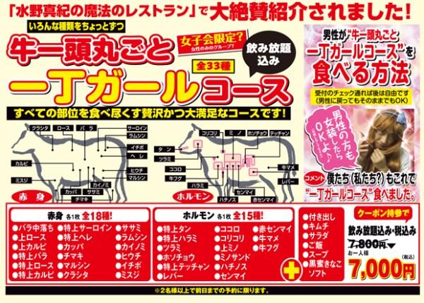 頂級黑毛和牛!一頭牛套餐@大阪燒肉一丁