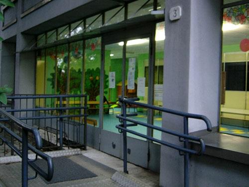 ingresso della scuola dell'infanzia Breccia
