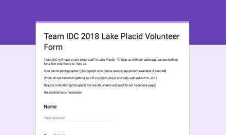 Volunteer as a part of Team IDC in Lake Placid