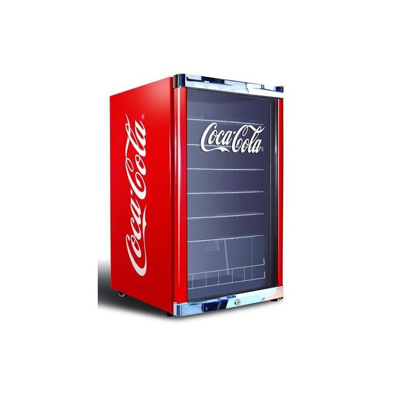 Petit Frigo Vitrine Coca Cola Boissons 115 L Rouge Pour