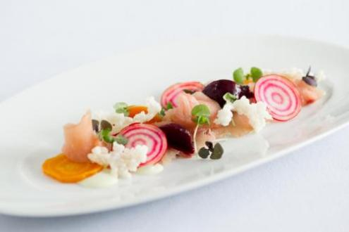 School of Culinary Arts   Career Programs   NY Campus   ICE A plated dish of seafood crudo and raw vegetables