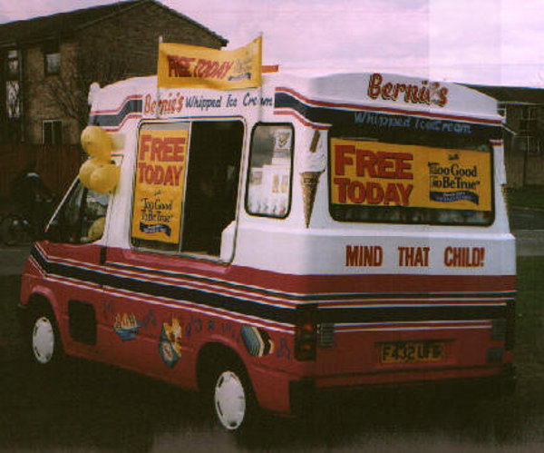 Bernies Ice Cream Van 1988