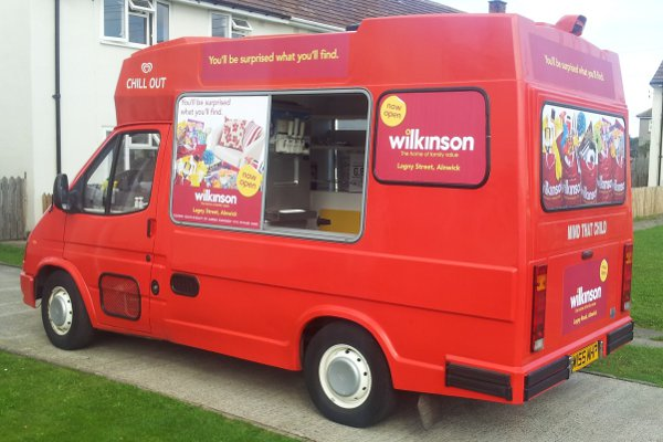 Ice Cream Van in Wilkinsons livery