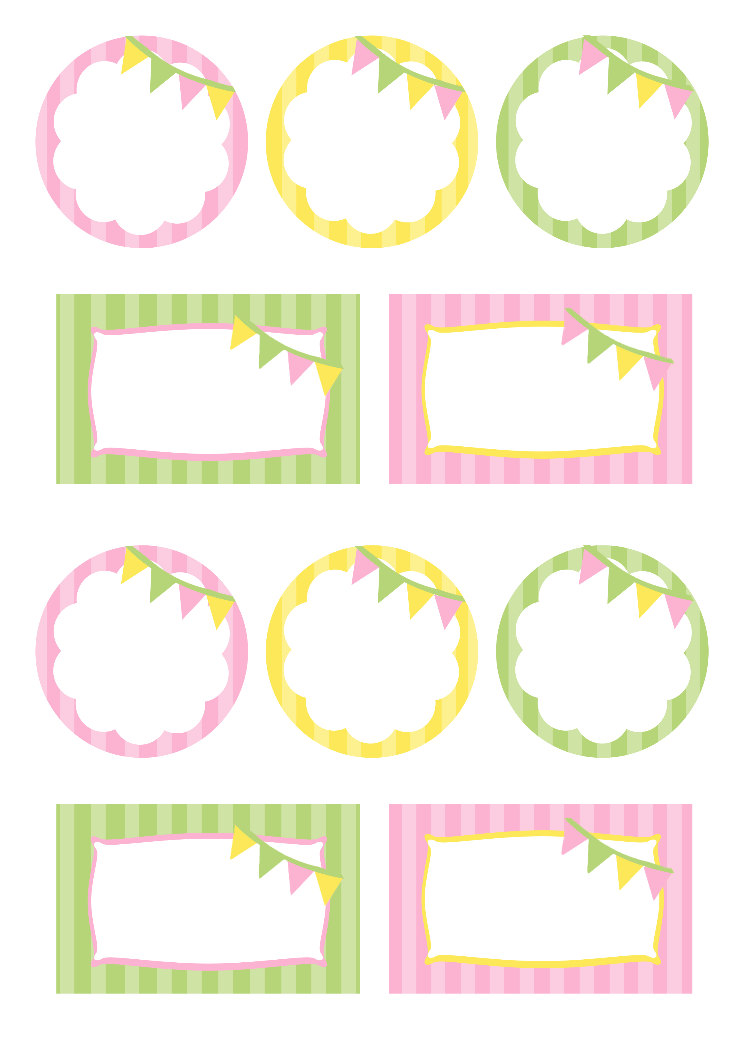 Pink Green Amp Yellow Party Free Printables