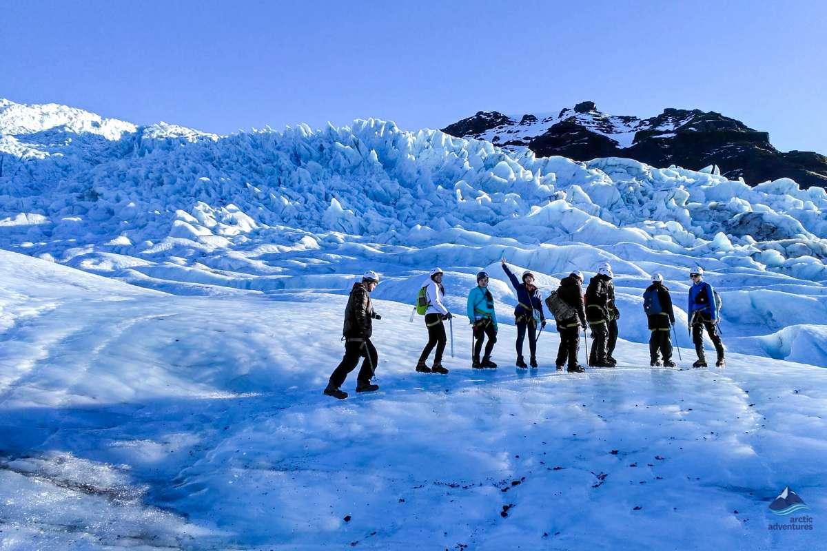 Vatnajokull glacier hiking