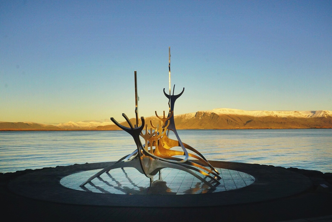 The Sun Voyager or Solfar is a beautiful sculpture along the sea in downtown Reykjavik // 19 easy ways to save money while traveling in Iceland | Life With a View