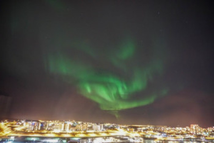 The biggest northern lights display I have ever seen, right from our apartment window!