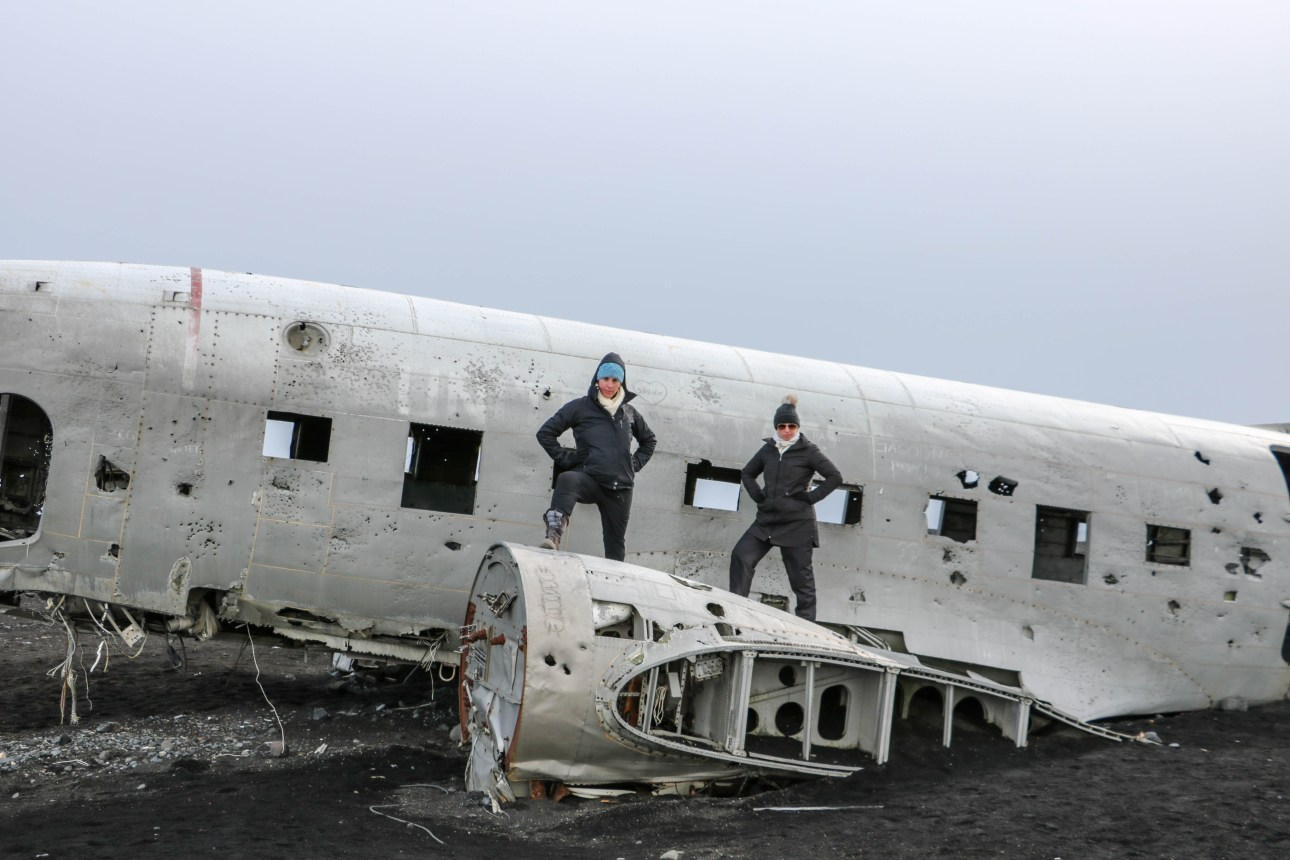 Month 8 expats living in Iceland - walking 5 miles to a plane wreck