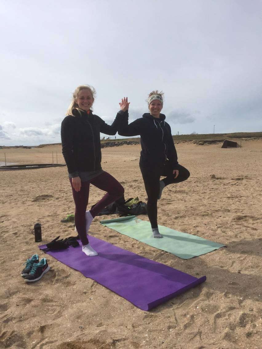 Beach yoga in Reykjavik on the first day of summer - so cold! | Life With a View