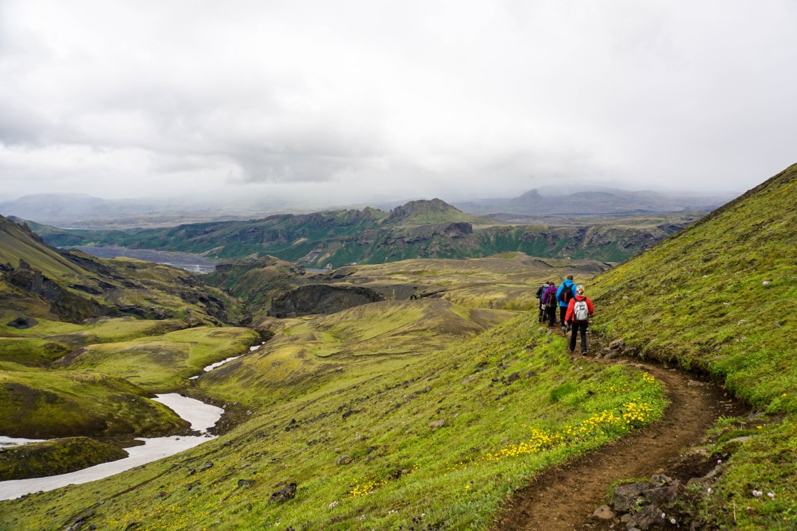 Hiking Fimmvörðuháls this weekend was UN.BE.LIEV.ABLE. 8 hours, through sun, rain and snow... SO worth it for incredible views like this. // Our Life in Iceland - Month 11 | Life With a View