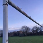 Two Norfolk football clubs celebrate 'Happy Goal Posts'